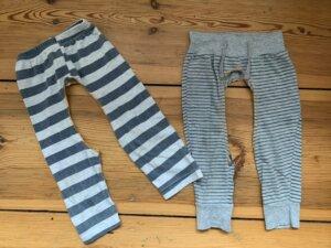 Leggings mit ausgeschnittenem Schritt als alternative windelfrei Bekleidung zum Abhalten diy do it yourself