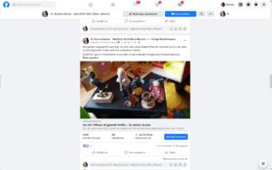 Mindset Shift durch Blick auf den organischen Erfolg eines Facebook Posts auf meiner Seite